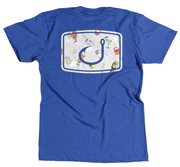 Avid Men's Tee Shirt Royal Blue / Small Avid, Men's Sand Bar Graphic Tee (Multiple Colors)