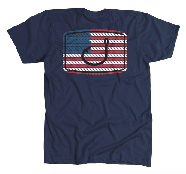 Avid Men's Tee Shirt Small Avid, Men's American Anthem Tee (Navy)