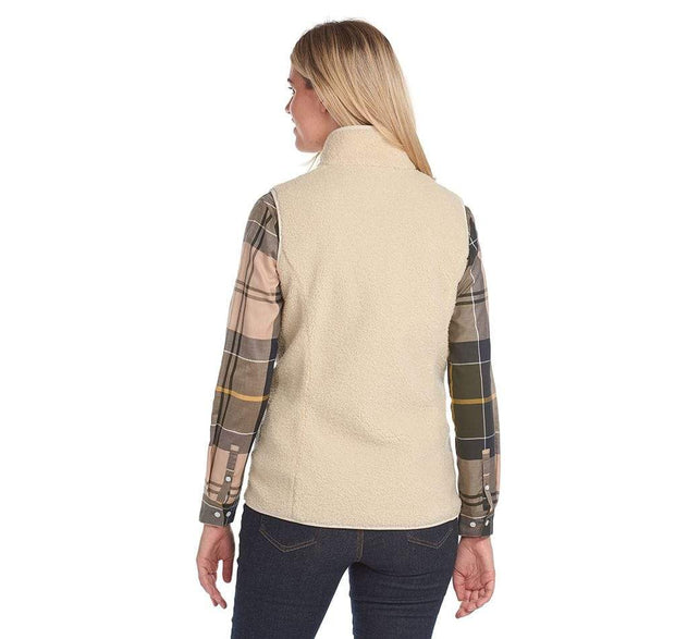 Barbour Women's Jacket Barbour, Women's Milburn Fleece (Winter Pearl)