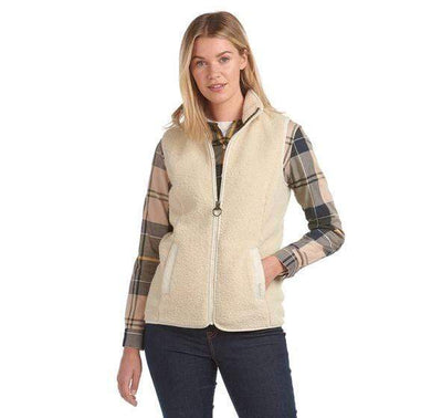 Barbour Women's Jacket US 6 / UK 10 / Winter Pearl Barbour, Women's Milburn Fleece (Winter Pearl)