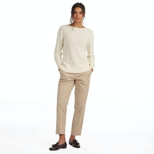 Barbour Women's Sweaters Barbour, Women's Monteith Knit Sweater (Cream)