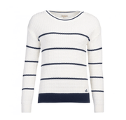 Barbour Women's Sweaters US 6 / UK 10 / White Barbour, Women's Petrel Knit Sweater (White)