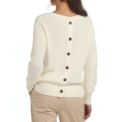 Barbour Women's Sweaters US 6 / UK 8 / Cream Barbour, Women's Monteith Knit Sweater (Cream)