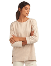 Barbour Women's Sweaters US 6 / UK 8 / Oatmeal Barbour, Women's Monteith Overlayer Sweater (Oatmeal)