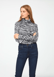 Beach Lunch Lounge Women's Sweaters Large / Zebra Silver Beach Lunch Lounge, Women's Shayna Sweater (Multiple Colors)