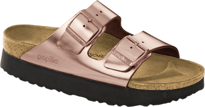 Birkenstock Women's Sandals 37 Birkenstock, Women's Arizona Platform (Copper)