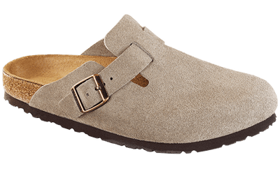 Birkenstock Women's Sandals 37 Birkenstock, Women's Boston Soft Footbed (Taupe)