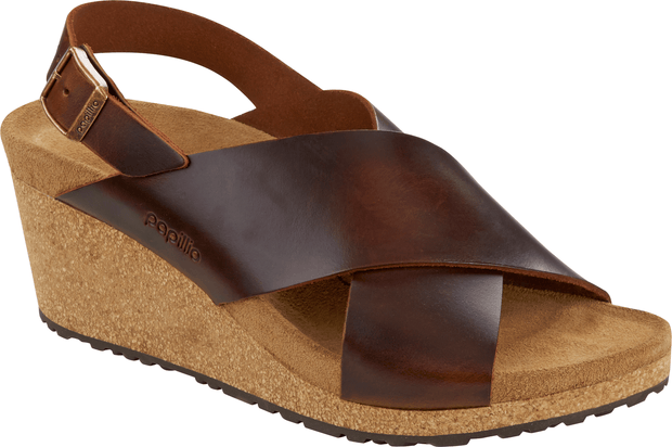 Birkenstock Women's Sandals 37, narrow Birkenstock, Women's Samira Wedge, Narrow (Cognac)