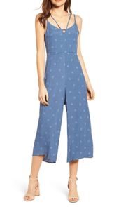 Bishop & Young Women's Jumpsuits Large / Denim Blue Bishop & Young, Women's Peekaboo Jumpsuit (Blue)