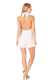 Bishop & Young Women's Rompers Bishop & Young, Women's Serena Halter Romper (White)