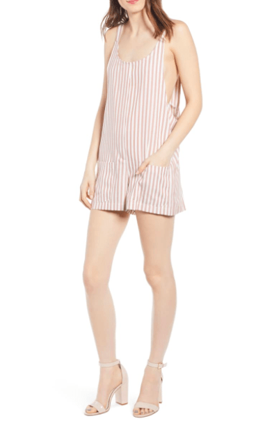 Bishop & Young Women's Rompers Large / Pink Bishop & Young, Women's Gracie Romper (Pink Stripe)