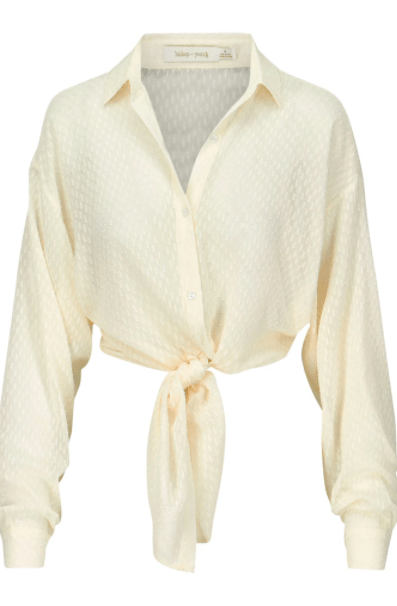 Bishop & Young Women's Tops Bishop & Young, Women's Harper Tie Waist Blouse (Cream)