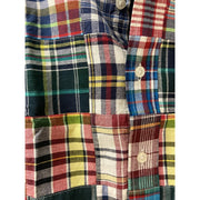 Castaway Men's Short Sleeve Button-Down Shirt Medium Castaway, Men's Madras Shirt (Lincoln Madras)