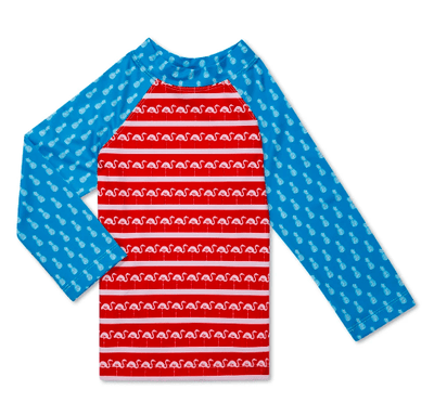 Chubbies Boy's Swim Toddler 4 / USA Red Chubbies, Kids The Compatriot Rashguard (Red, White, and Blue)