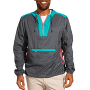 Chubbies Men's Jacket Chubbies, Men's March of the Toucans Packable Windbreaker (Black)