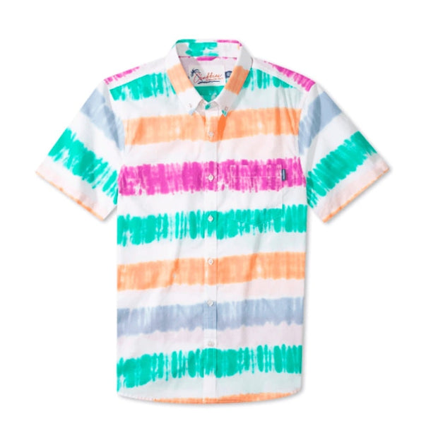 Chubbies Men's Short Sleeve Button-Down Shirt Chubbies, Men's Open Air Popover (Sorbet)