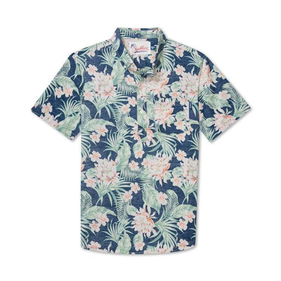 Chubbies Men's Short Sleeve Button-Down Shirt L Chubbies, The Resort Wear Popover (Cloud Blue)