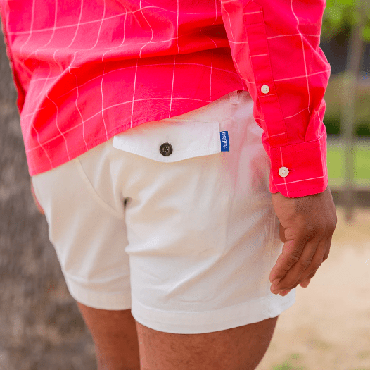 Chubbies Men's Shorts Chubbies, Men's 4 Inch Vanillas Shorts (White)