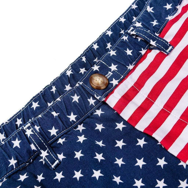 Chubbies Men's Shorts Chubbies, Men's 'Merica 7 Inch Shorts (Red, White, & Blue)