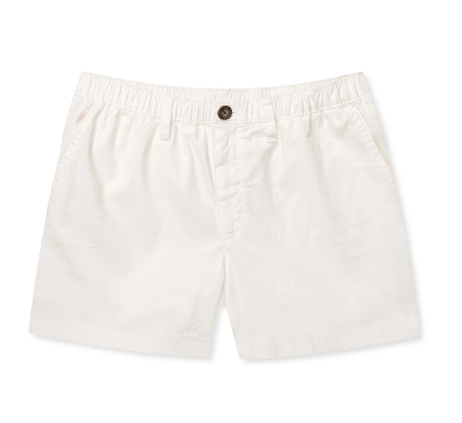 Chubbies Men's Shorts Large / White Chubbies, Men's 4 Inch Vanillas Shorts (White)