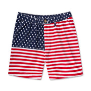 Chubbies Men's Shorts Medium / USA Chubbies, Men's 'Merica 7 Inch Shorts (Red, White, & Blue)