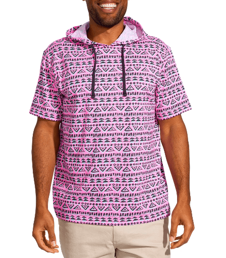 Chubbies Men's Tee Shirt Large Chubbies, Men's Equator Hoodie Tee (Magenta)