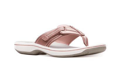 Clarks Women's Sandals 10 / Rose Clarks, Women's Brinkley Jazz Sandals (Rose Gold)