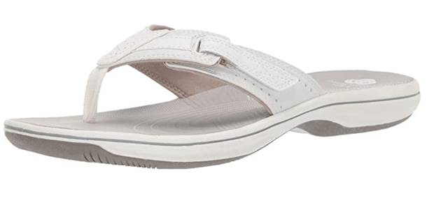 Clarks Women's Sandals 10 / White Clarks, Women's Brinkley Reef Sandal (Multiple Colors)