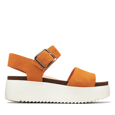 Clarks Women's Sandals 7 / Burnt Orange Clarks, Women's Botanic Strap (Burnt Orange)