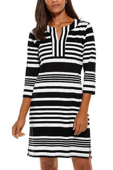 Coolibar Women's Dresses Large / Black and White Modern Coolibar, Oceanside Tunic Dress (Multiple Colors)