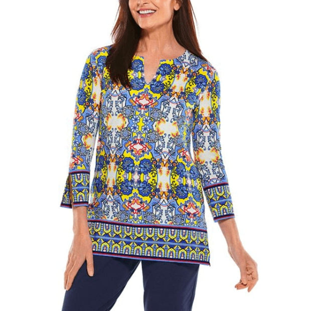 Coolibar, Women's St. Lucia Tunic Top (Blue)