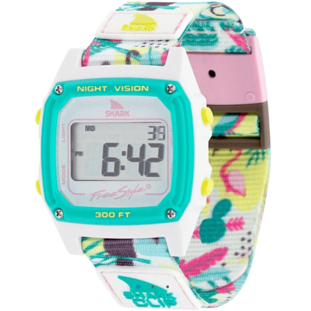 Freestyle watches Tropical White Freestyle Shark Classic Clip Monkey Business