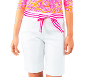 Gretchen Scott Women's Shorts Medium / White Gretchen Scott, Women's Gripeless Bermuda Shorts (Multiple Colors)