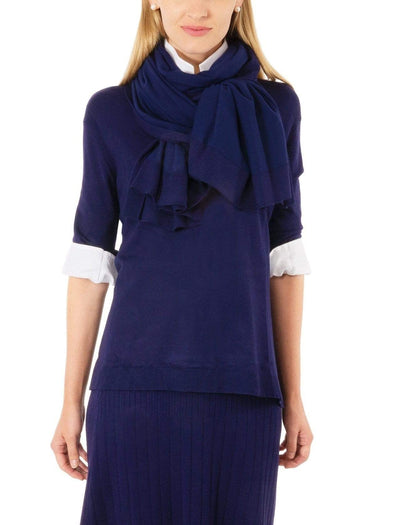 Gretchen Scott Women's Sweaters Small Gretchen Scott, Women's Sneek a Peek Sweater (Navy)