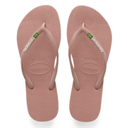Havaianas Women's Sandals 35/36 / Crocus Rose Havaianas, Women's Slim Brazil Flip Flops (Rose)