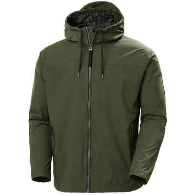 Helly Hansen Men's Jacket Medium Helly Hansen, Men's Urban Rain Jacket (Forest Green)