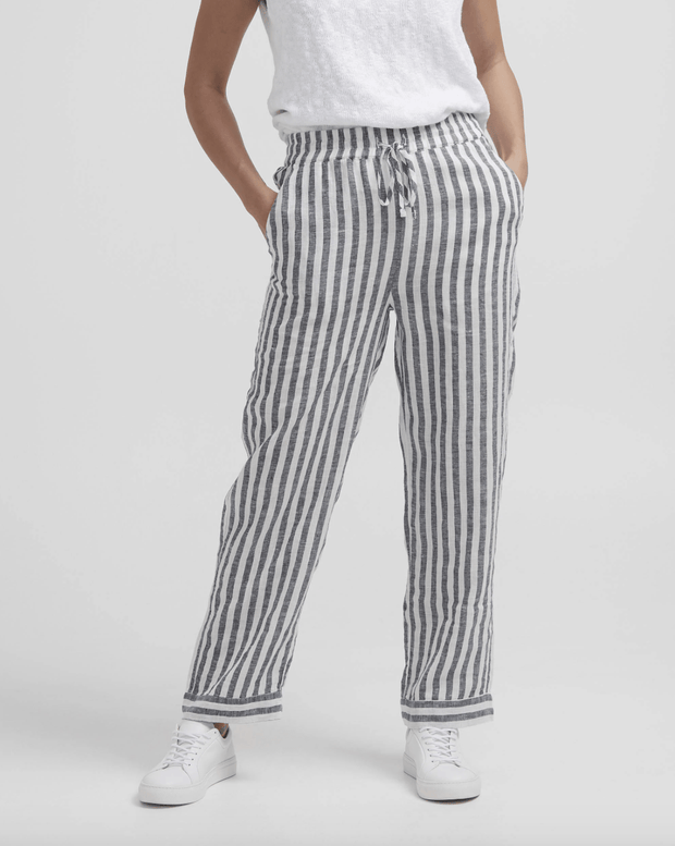 Holebrook Women's Pants Large / Navy and White Holebrook, Women's Solina Trouser (White)