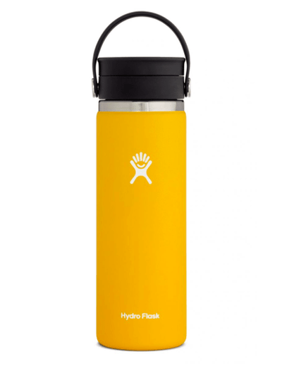 Hydro Flask Coffee Cup Sunflower Yellow Hydro Flask, 20 Ounce Coffee Wide Flex Sip Lid (Sunflower)