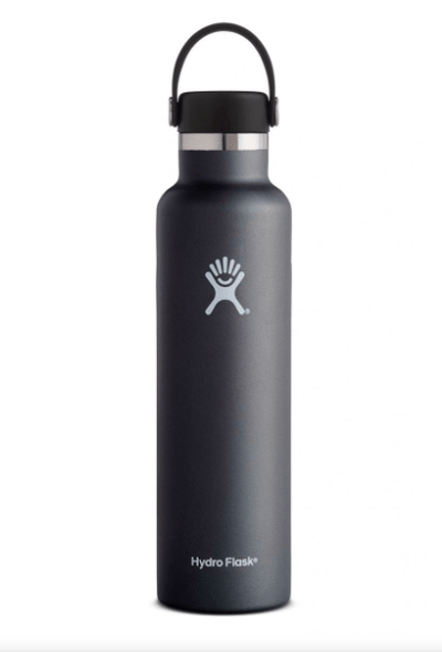 Hydro Flask Water Bottle Black Hydro Flask, 24 Ounce Standard Mouth (Black)