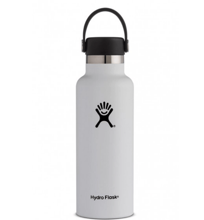 Hydro Flask Water Bottle Hydro Flask, 24 oz Standard Mouth (White)
