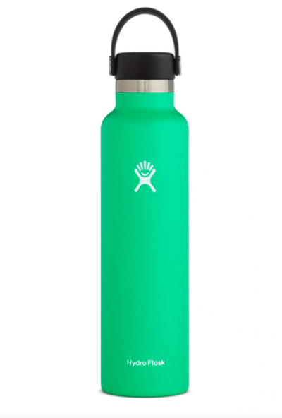 Hydro Flask Water Bottle Mint Green Hydro Flask, 24 Ounce Standard Mouth (Spearmint)