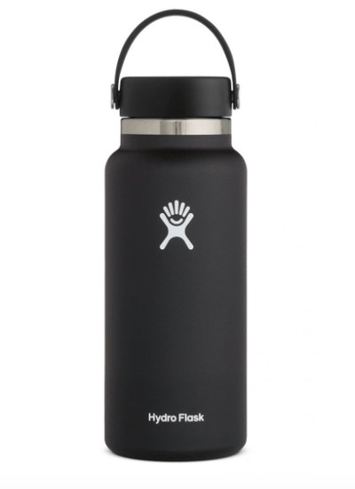 Hydro Flask Water Bottle One Size / Black Hydro Flask, 32 Ounce Wide Mouth (Black)