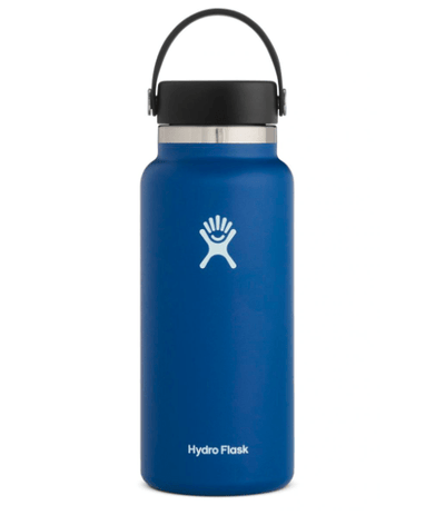 Hydro Flask Water Bottle One Size / Cobalt Hydro Flask, 32 Ounce Wide Mouth (Cobalt)