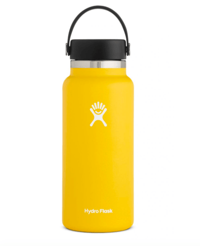 Hydro Flask Water Bottle One Size / Sunflower Yellow Hydro Flask, 32 Ounce Wide Mouth (Sunflower)