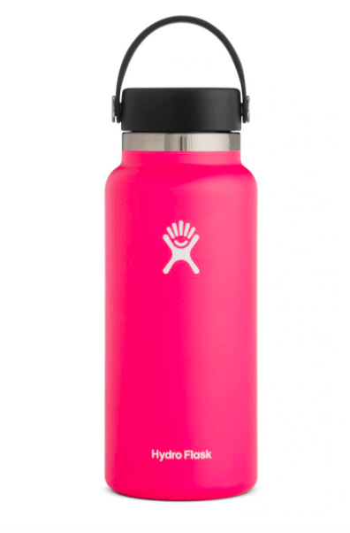 Hydro Flask Water Bottle One Size / Watermelon Pink Hydro Flask, 32 Ounce Wide Mouth (Watermelon)