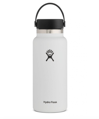 Hydro Flask Water Bottle One Size / White Hydro Flask, 32 Ounce Wide Mouth (White)