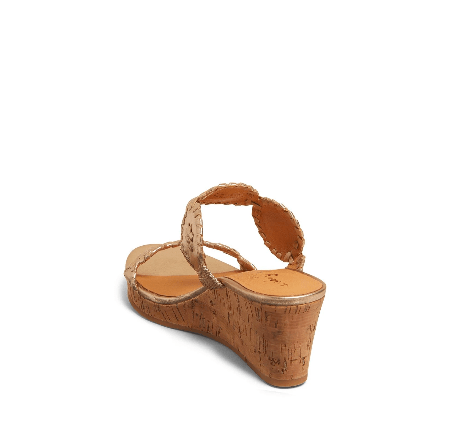Jack Rogers Women's Sandals Jack Rogers, Women's Lauren Mid Wedge (Gold)