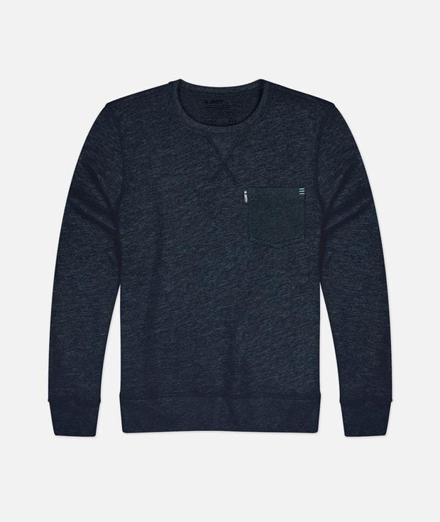 Jetty Men's Long Sleeve Tee Large / Navy Blue Jetty, Men's Harbor Crewneck (Navy Blue)