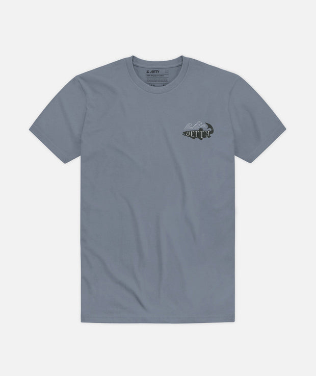 Jetty Men's Tee Shirt Jetty, Men's Tidewater Tee (Fog Grey)