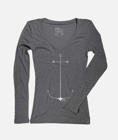 Jetty Women's Tee Shirt Large / Charcoal Jetty, Women's Starboard Anchor Tee (Charcoal)
